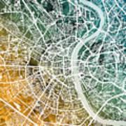 Frankfurt Germany City Map Art Print