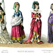 French Costume Charles Vi, Charles Vii Art Print