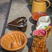 French Flea Market Pottery Art Print