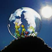 Frogs In A Bubble Art Print