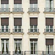 Front View Of Paris Architecture Art Print