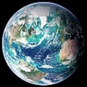 Full Earth, Close-up Art Print