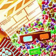 Funky Film Festival Art Print