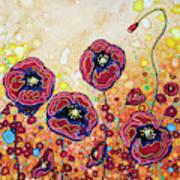 Funky Flowers Art Print