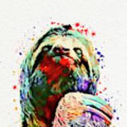 Funny Sloth Art Print