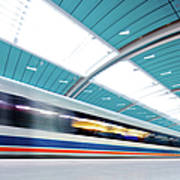 Futuristic Train Art Print