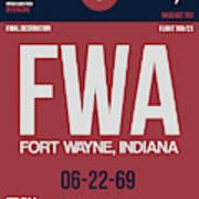 Fwa Fort Wayne Luggage Tag II Art Print