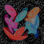 Galaxies Merging Art Print