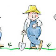 Garden Guy Art Print