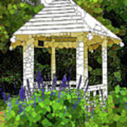 Gazebo In A Beautiful Public Garden Park 3 Art Print