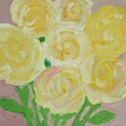 Gentle Yellow Bouquet Art Print
