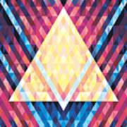Geometric Background - Vector Seamless Art Print
