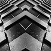 Geometric Night  Art Print