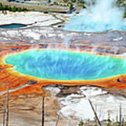 Geothermal Pool With Steam Rising Art Print
