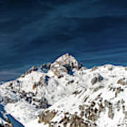 Gigapixel Photograph Of Mountain Triglav, Slovenia Art Print