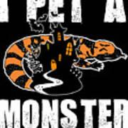 Gila Monster Halloween Venomous Lizard Pet Owner Dark Art Print