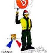 Gilets Jaunes Et Btc Art Print