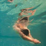 Girl Diving In The Swimming Pool Art Print