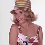 Girl In Vintage Hat Art Print