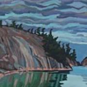 Gitchi-gami Cove Cliff Art Print