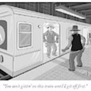 Gitten On This Train Art Print