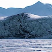 Glacier Cracked Under Pressure Art Print