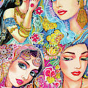 Glamorous India Art Print