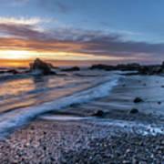 Glass Beach Sunset Art Print