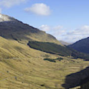 glen in highlands known as  the Rest and be Thankful Art Print
