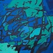 Gloomy Blues Art Print
