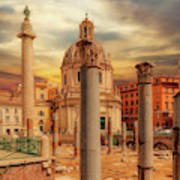 Glories Past And Present,  Rome Art Print