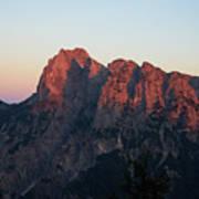 Glowing Mountains Art Print