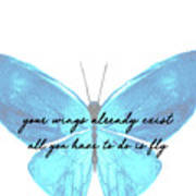 Go Fly Quote Art Print