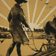 God Speed The Plough And The Woman Who Drives It Art Print