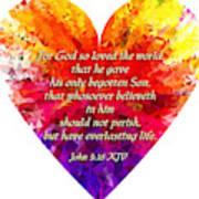 God's Heart Art Print