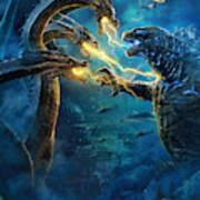 Godzilla II Rei Dos Monstros Art Print
