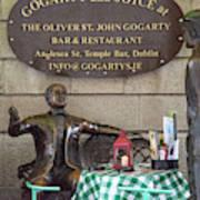 Gogarty And Joyce Statues One Art Print