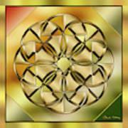 Gold Design 24 Art Print