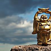 Golden Prosperity Buddha Art Print