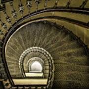 Golden Stairway Art Print