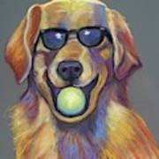 Golden With Ball Art Print