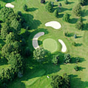 Golf Course Close Up From The Air Art Print