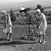 Golf Robot Art Print