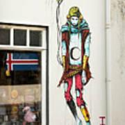 Graffiti By Deih In Reykjavik Art Print