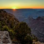 Grand Canyon Last Light Art Print