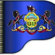 Grand Pennsylvania Flag Art Print