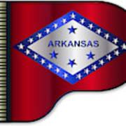 Grand Piano Arkansas Flag Art Print