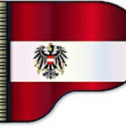 Grand Piano Austrian Flag Art Print