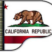 Grand Piano California Flag Art Print