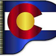 Grand Piano Colorado Flag Art Print